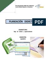 93189280 Planeacion Didactica Hoja de Calculo y Operaciones 2011B