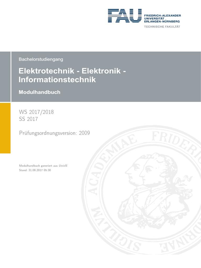 Modulhandbuch Elektrotechnik, Elektronik Und Informationstechnik ...