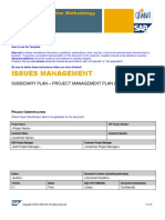 PM Plan IssueManagement Template