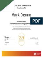 Mary A. DuQuaine, CPLP