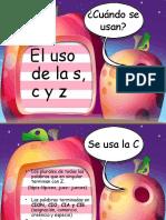 Uso de La c,s y z (1)
