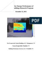 Final Report for Energy Performance Of Straw Bale Buildings