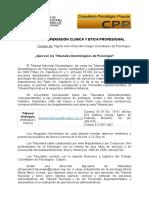 Tribunales Deontológicos en Psicología en Colombia