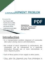 Transshipment Problem
