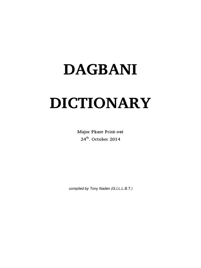 Full Dagbani Dictionarypdf