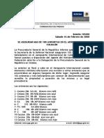 Asegura PRG más de 100 aeronaves en Culiacán (2008)