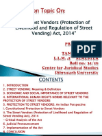 """""""The Street Vendors (Protection of Livelihood And Regulation Of Street Vending) Act, 2014""""- PPT"""