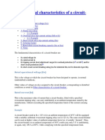 Fundamental Characteristics of a Circuit-breaker - Scheider