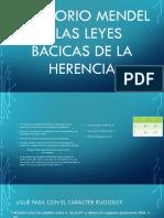 Gregorio Mendel y Las Leyes Bacicas de La Herencia