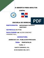Tarea v Derecho Internacioanl Publico y Privado
