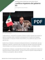 07-09-17 Rechaza Senado Política Migratoria Del Gobierno de Estados Unidos _ Contramuro Noticias en Michoacán