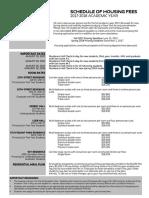 Housing Rates NYC AY 17-18