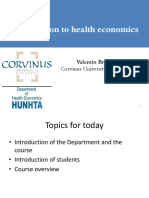 Introduction to Health Economics Lecture 1 2017