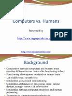 Computers vs Humans 1