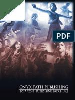 Onyx Path Publishing Brochure (2017)