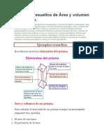 Ejemplos Resueltos de Área y Volumen de Prisma