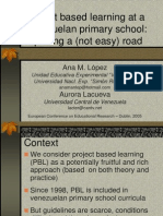 Project based learning at a Venezuelan primary school