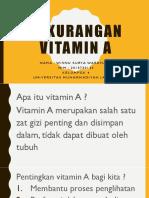 Persentasi Kekurangan Vitamin A