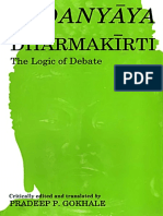 (Bibliotheca Indo-Buddhica Series No. 126) Dharmakirti, Pradeep P. Gokhale-Vadanyaya of Dharmakirti_ The Logic of Debate-South Asia Books (1993).pdf