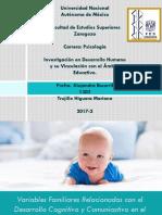 Variables FAMILIARES RELACIONADAS CON EL DESARROLLO COGNITIVO Y COMUNICATIVO EN EL 1ER CICLO DE EDUCACIÓN INFANTIL