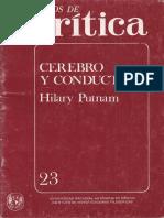 Cerebro y Conducta (Hilary Putnam)