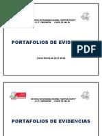 Portafolio de Evidencias 2017-2018