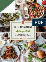 The Experiment Spring 2018 Catalog