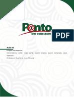 PORTUGUÊS-Concordância Verbal Regra Geral, Sujeito Simples, Sujeito Composto, Casos Especiais.