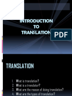 2nd Meeting - Introduction to Translation
