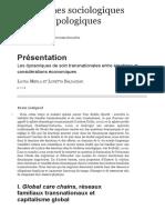 BALDASSAR, Loretta. Les dynamiques de soin transnationales entre émotions. 2010.pdf