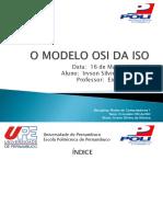 O MODELO OSI DA ISO