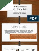 Elementos de Control Eléctrico