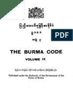 Burma Code Vol IX