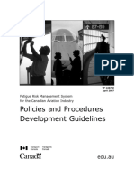 Canada FRMS Policies & Procedures Development Guidelines