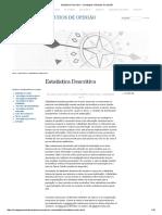 Estatística Descritiva « Sondagens e Estudos de Opinião