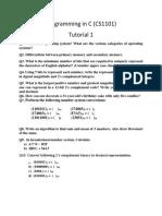 Tutorial 1 - Programming in C