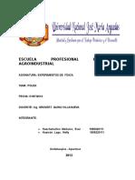 Escuela Profesional Ingeniería Agroindustrial Fisica i