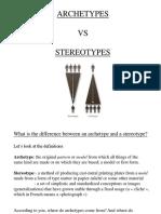 archetypes vs stereotypes