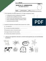 Ciencia y Ambiente Examen Mensual Mayo