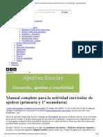 Manual Completo Para La Actividad Curricular de Ajedrez (Primaria y 1º Secundaria) « Ajedrez Escolar