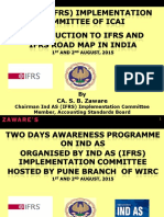 Introduction and Roadmap of Ind as for 1st 2nd August Pune Branch Programme CA. Zaware Sir
