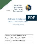 Actividad de Metacognición- Orientación Vocacional