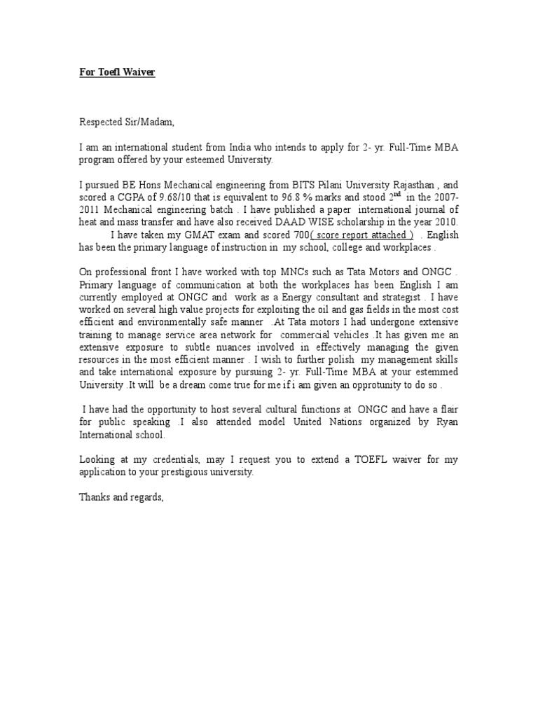 Sample Letter Of Waiver Request from imgv2-1-f.scribdassets.com