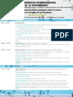 Programa v Conferencia y v Aniversario Catedra Google