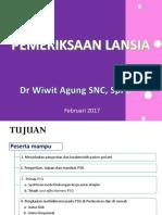 Skrening Lanisa Puskesmas 2 Feb 2017