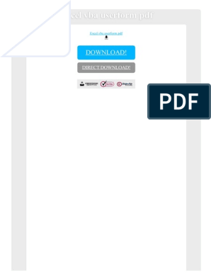 Excel Vba Userform PDF | Visual Basic For Applications