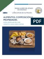 Alimentos, Composición y Propiedades