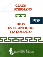 Claus Westermann Dios en El Antiguo Testamento