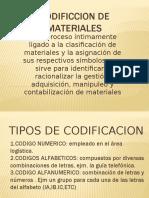 Codificcion de Materiales