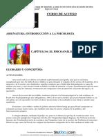 Resumen Introduccion a La Sociologia Capitulo 6 El Psicoanalisis